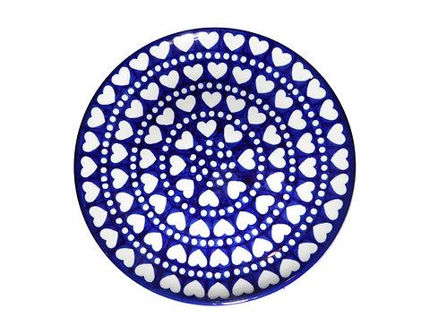 Assiette, Bleu blanc cœurs
