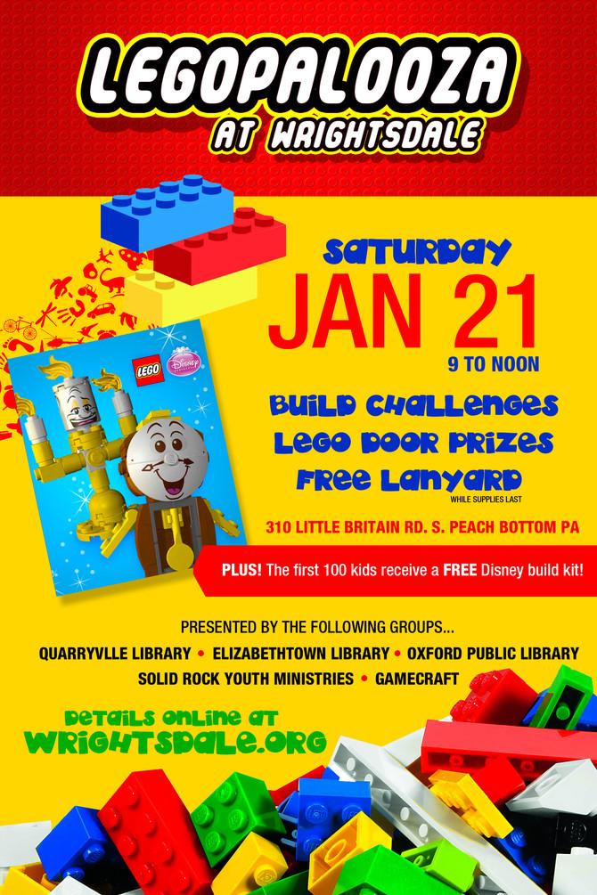 Wrightsdale hosts LEGOpalooza on January 21
