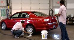 Washing and Waxing Cars