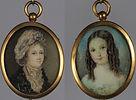 antico, antica, antichi, antiche, antichita', vintage, antique, antiques, miniatura, avorio, miniatura su avorio, ritratto, ritratto femminile, portrait, female portrait, miniature, ivory