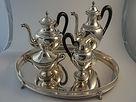 argento antico, antique silver, sterling, argento, vintage, silver, miracoli, tea set, coffee set, servizio da te, servizio da caffe