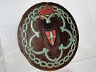 antico, antique, antiques, antichi, antiche, antica, vetro, glass, calcedonio, Chalcedony, stemma, emblema, scudo, tondo, round, medaglione, medallion