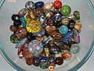antico, antique, antichi, antiques, vintage, glass, vetro,  perle di vetro veneziane, venetian glass beads, murrine, avventurina, calcedonio, perla di vetro, glass bead