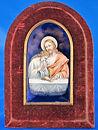 antico, antica, antichita', antichi, antique, antiques, vintage, smalto, cristo, christ, enamel painting, quadro, immagine di cristo