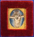 cristo, christ, antico, antique, embroidery, ricamo, seta, silk, immagine