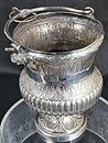 argento antico, antique silver, sterling, argento, silver, secchiello per acqua santa, holy water bucket, oggetti religiosi, religious objects