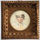 antico dipinto, antica stampa, vintage, antique painting, antique paint, antique print, miniatura, miniature, acquarello su carta, water color on paper, portrait, ritratto