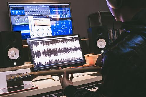 asian professional musician recording el