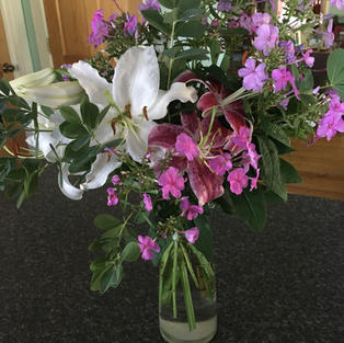 Mixed bouquet with Asiatic Lilies