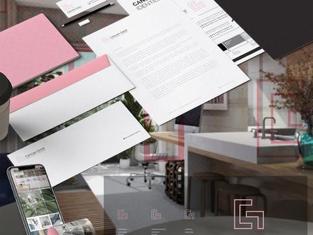 Criação de logo, identidade visual e papelaria personalizada para Cancian Gossi Arquitetura