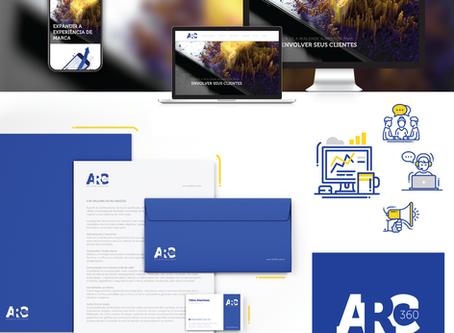 Criação de logo, identidade visual, papelaria padrão e site Wix para a área de tecnologia e inovação