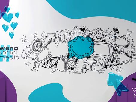 Comunicação Visual para agência de marketing de conteúdo e redes sociais Wena