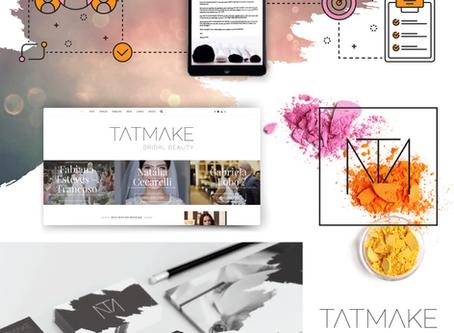 Criação de logo, identidade visual, site e linha do tempo do cliente para TatMake