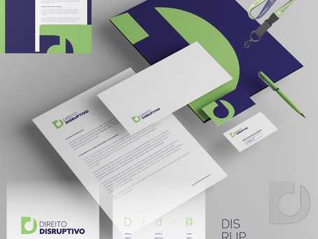 Criação de logo e identidade visual para portal jurídico Direito Disruptivo