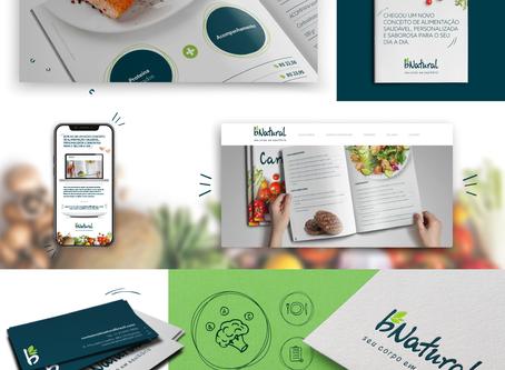 Criação de logo, identidade visual, papelaria personalizada e site wix para Bnatural