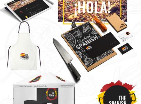 Criação de logo, identidade visual e site wix para buffet para eventos The Spanish Catering