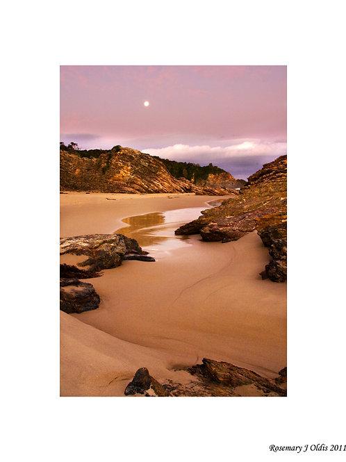 """Moonrise over Secret Beach"""