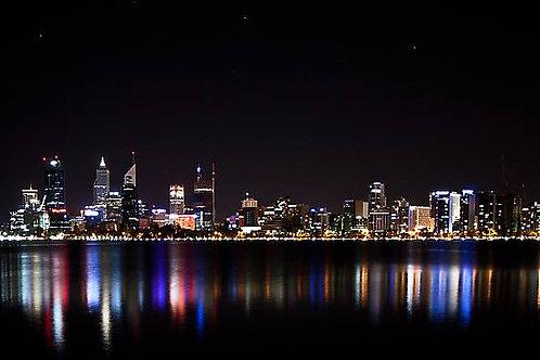 """""""Christmas Lights, Swan River"""""""