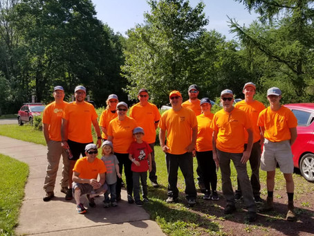 Keystone Volunteers During PennTec's 2021 Community Service Project
