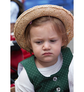 Picture of a young girl looking annoyed