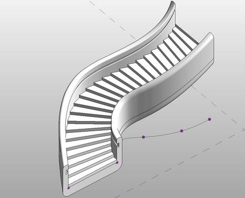 Staircase axonometry