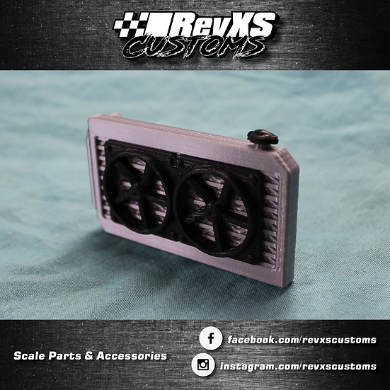 1/10th Scale Radiator/Dual Fans