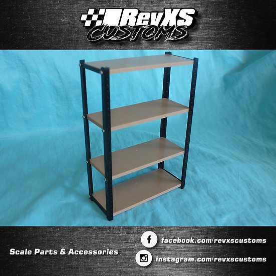 Scale Garage Straight Shelf STL Files