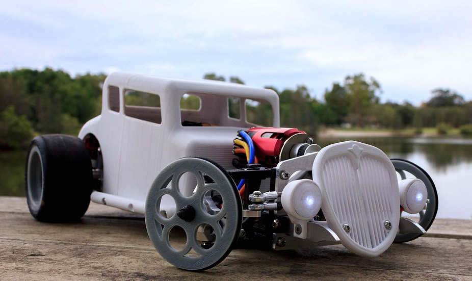 1/10th RC Hotrod Coupe body STL Files