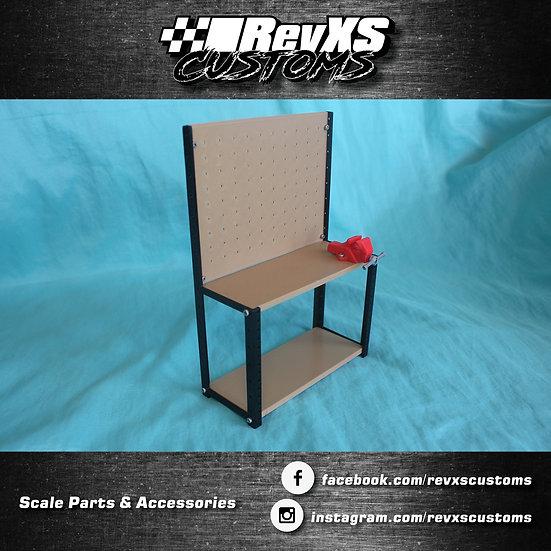 Scale Garage Workbench Shelf STL Files