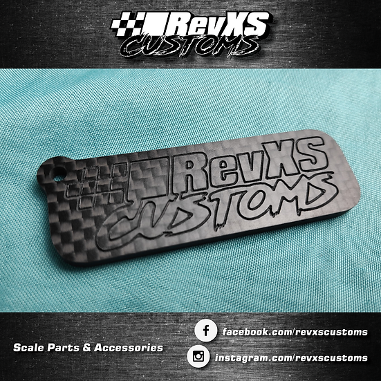 RevXS Customs Carbon Fiber Keychain