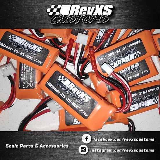 RevXS Customs 360mah 2s 25-60c 7.4v Lipos