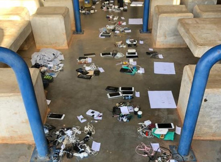 March 15th 2020 - Fishing hooks, knives and cell phones seized in jail raid at the new Mega La Joya.