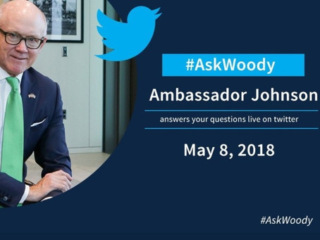 Invitation by the American Ambassador Woody Johnson for a Q & A Via Twitter