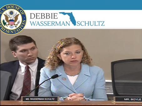 Congresswoman Debbie Wasserman Shultz (Democrat) &  Mr Tuffney's representative for Fort Lauderdale.