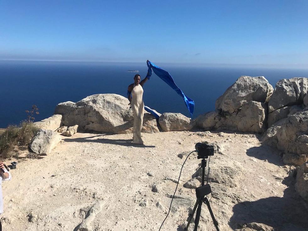 Melody video shoot - Malta