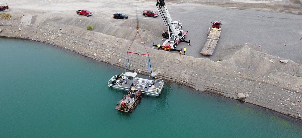 oil boom barge workboat