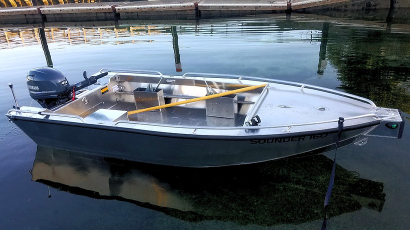 welded aluminum boat work boat skiff