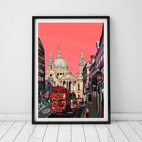 St Paul's Cathedral (Pink)