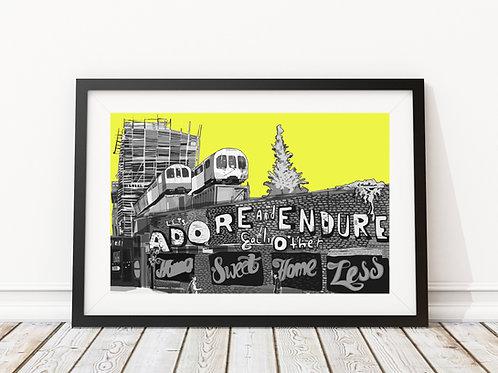 Adore and Endure, Village Underground, Shoreditch (Yellow)