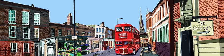 Stoke Newington Church Street Panoramic