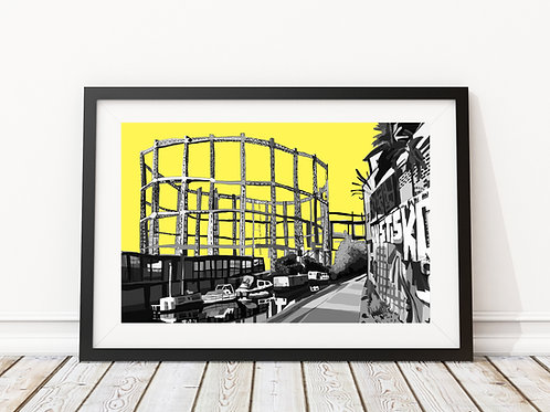 Bethnal Green Gas Holders (Yellow)