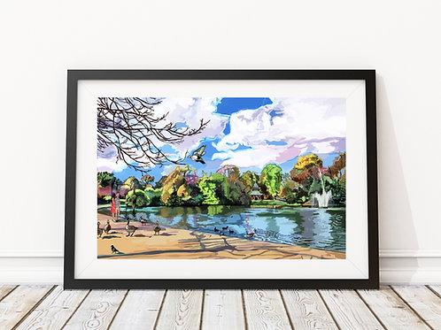 Victoria Park Lake, Hackney, East London