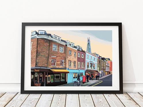 A3 Signed Limited Edition Bermondsey Street