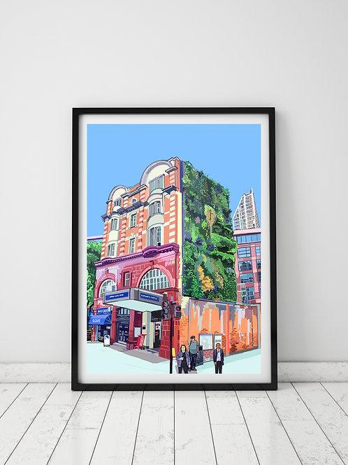 Elephant and Castle Underground Tube Station, Southwark, London