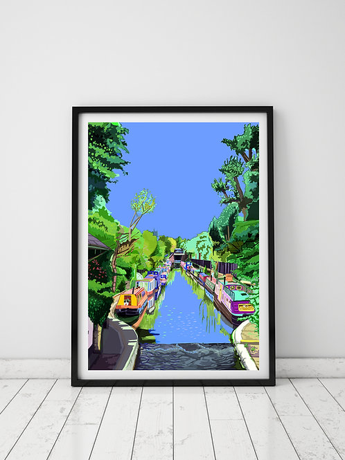 A3 Signed Limited Edition Little Venice, Maida Vale