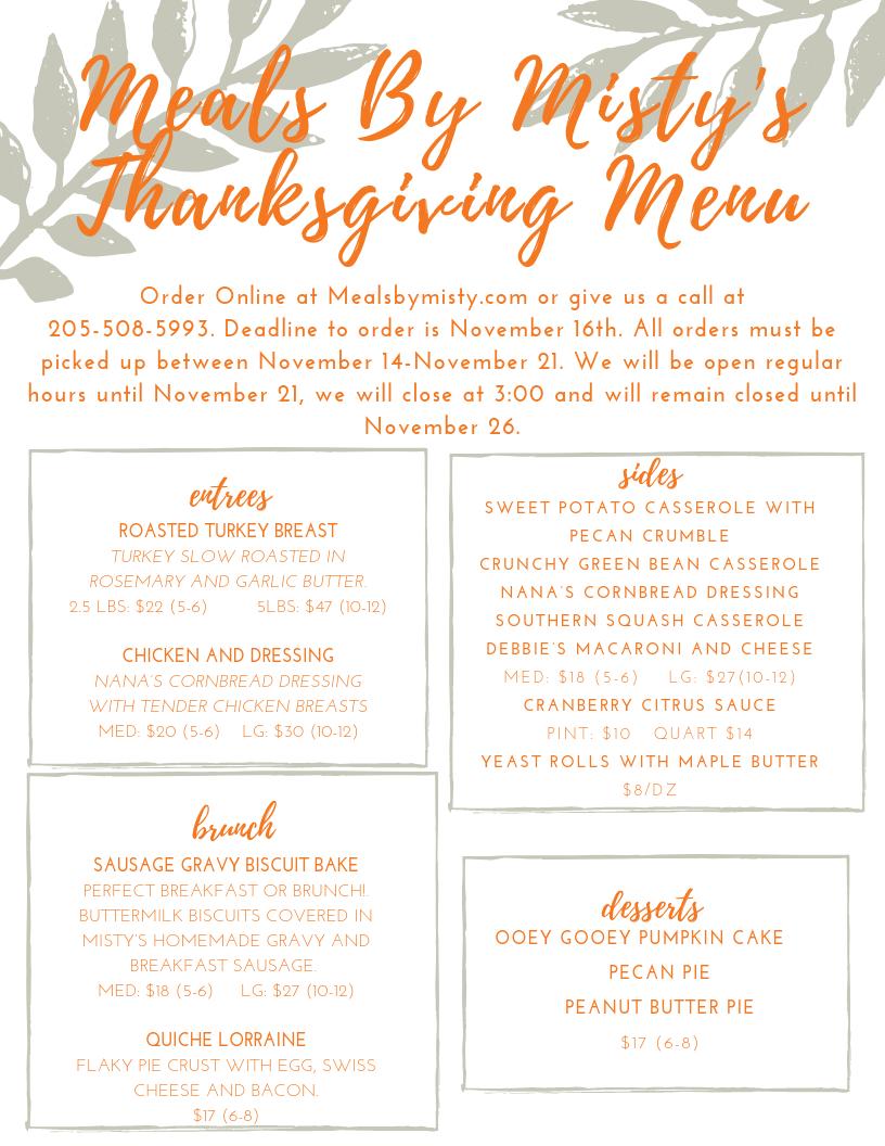 Tangerine Handdrawn Leaves Thanksgiving