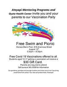 Oyate Health Center and Ateyapi Mentoring Programs invite you  and your parents jpeg (002)