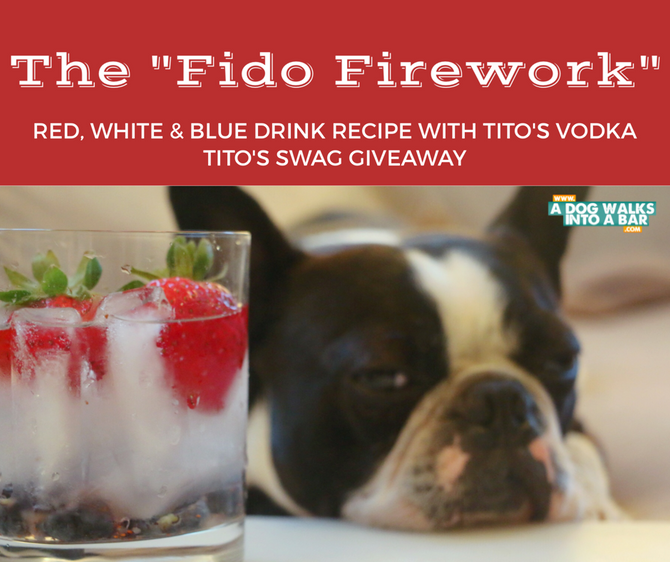 "The ""Fido Firework"" and Tito's Vodka Swag Giveaway"