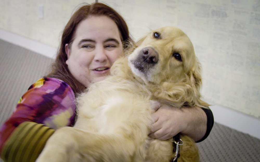Maia and Fiddler celebrate National Guide Dog Month