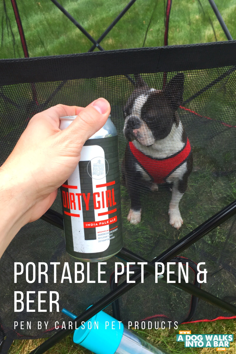 Yoda and Beer and a Portable Pet Pen from Carlson Pet Products